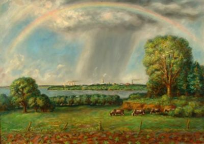 Rainbow and View of Madison, Wisconsin